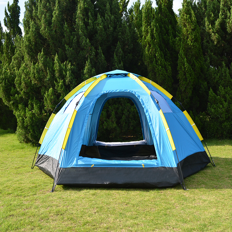 3 5 Person Automatic Big Camping Tent with 2 Door 4 Window Anti UV Mongolian Yurt