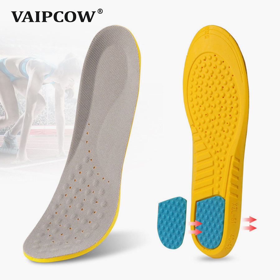Insoles for shoes hight quality cushions shock absorption breathable comfortable foot pain relieve shoe insole men and women