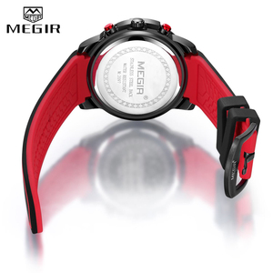 Image 5 - Relojes 2020 MEGIR Watch Men Luxury Chronograph Silicone Waterproof Sport Military Mens Watches Analog Quartz Relogio Masculino