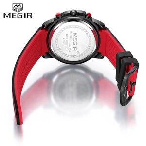 Image 5 - Relojes 2020 MEGIR zegarek męski luksusowy chronograf silikonowy wodoodporny Sport wojskowy męskie zegarki analogowy kwarcowy Relogio Masculino