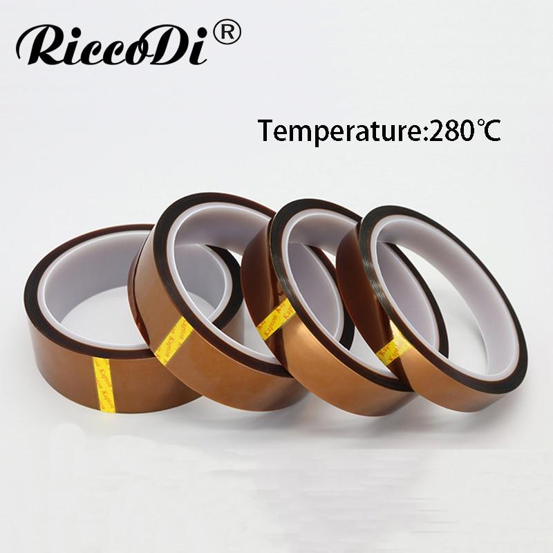 цена на 1Pc Width 60/65/70/80/90/100/150/200mm Length 30M Heat Resistant Polyimide Tape High Temperature Adhesive Insulation Kapton Tape