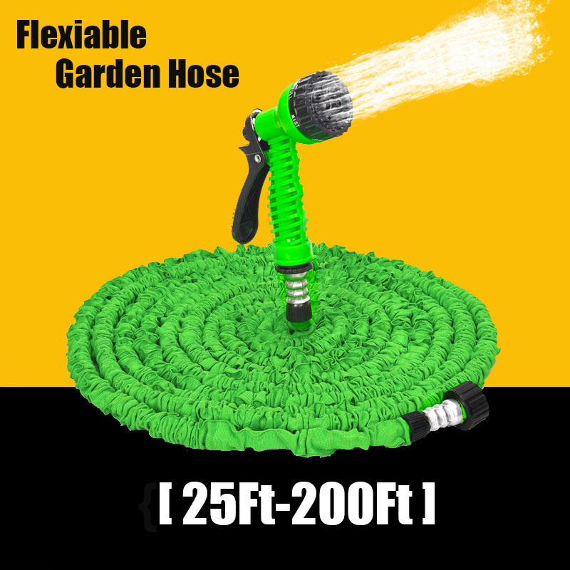 25-200FT Erweiterbar Magie Flexible Gartenschlauch Für Auto Wasser Rohr Kunststoff Schläuche, Um Bewässerung Mit Spritzpistole Garten Bewässerung Kühlen