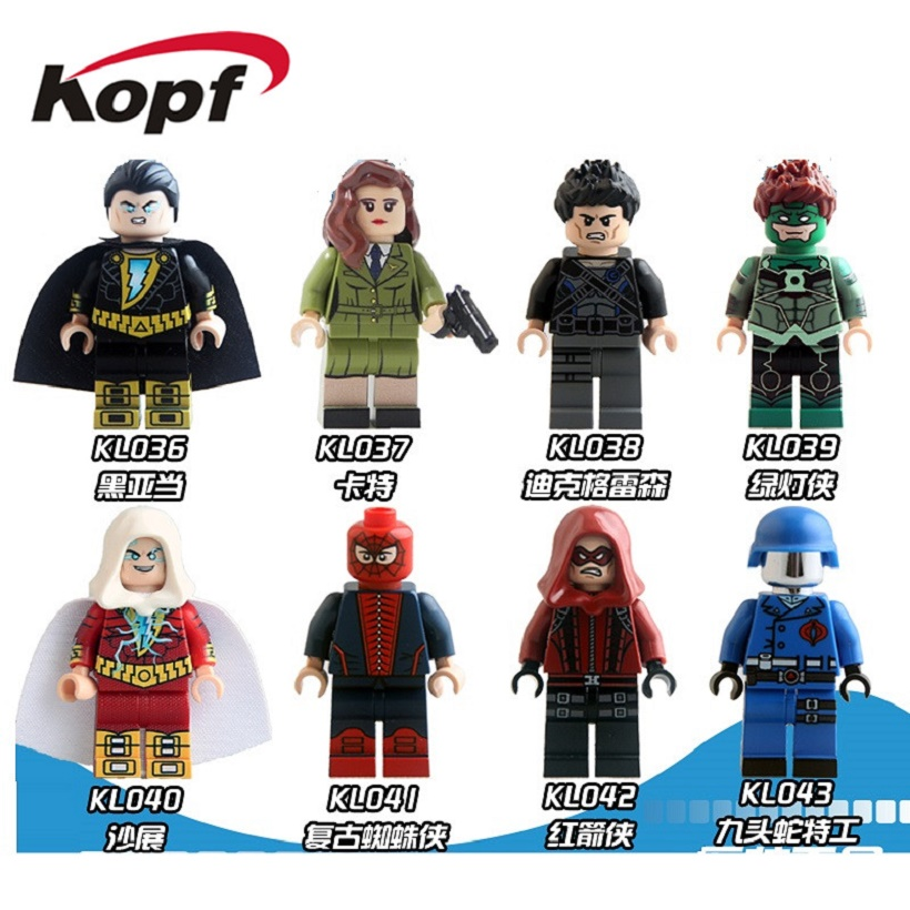 Building Blocks Sharon Carter Dick Grayson Red Arrow Robin Hydra Agent Super Heroes Bricks Collection Toys for children KL9005
