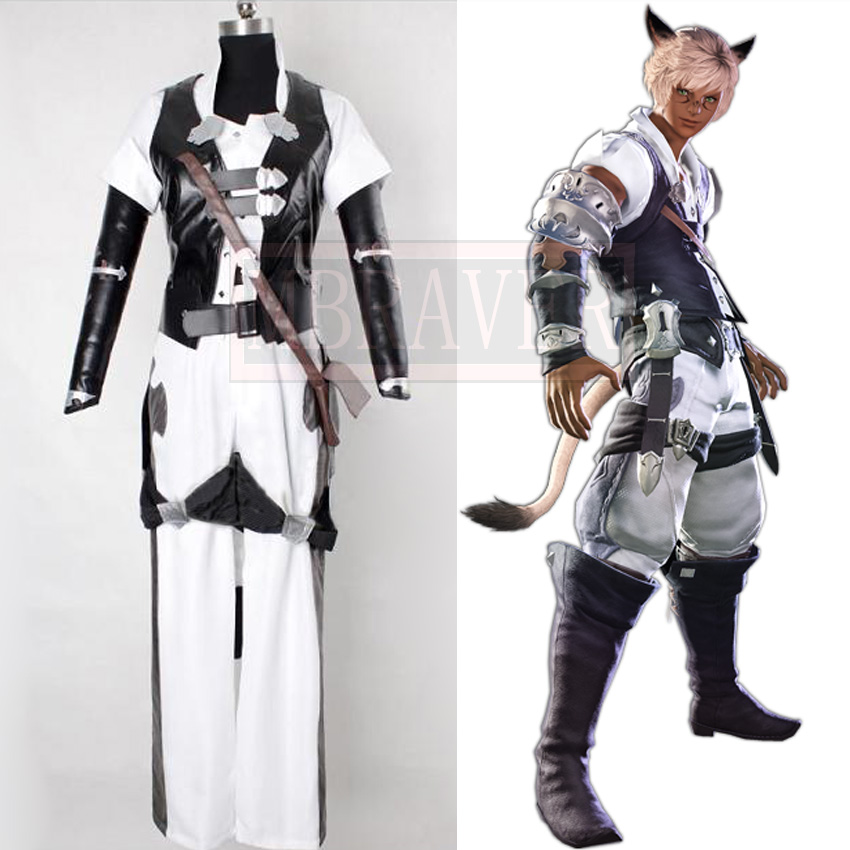 Final Fantasy XIV Miqo'te Cosplay Costume Sur Mesure N'importe Quelle Taille