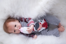 22″ Cartoon New Reborn Dolls Silicone Toy Gift Children Early Education  boy baby Doll 55cm Soft Vinyl YDK-72R4