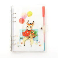 A5 Cute Girl Bullet Journal Dotted 6 Holes Travelers Notebook 80 sheets paper(Mix Grid, Dot Grids, Blank, Line Page)