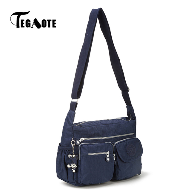 4922320fdc09 TEGAOTE Female Shoulder Bags Handbags Women Famous Brand Bolsas Feminina  Purse Nylon Crossbody Beach Bag Sac A Main Black 2019
