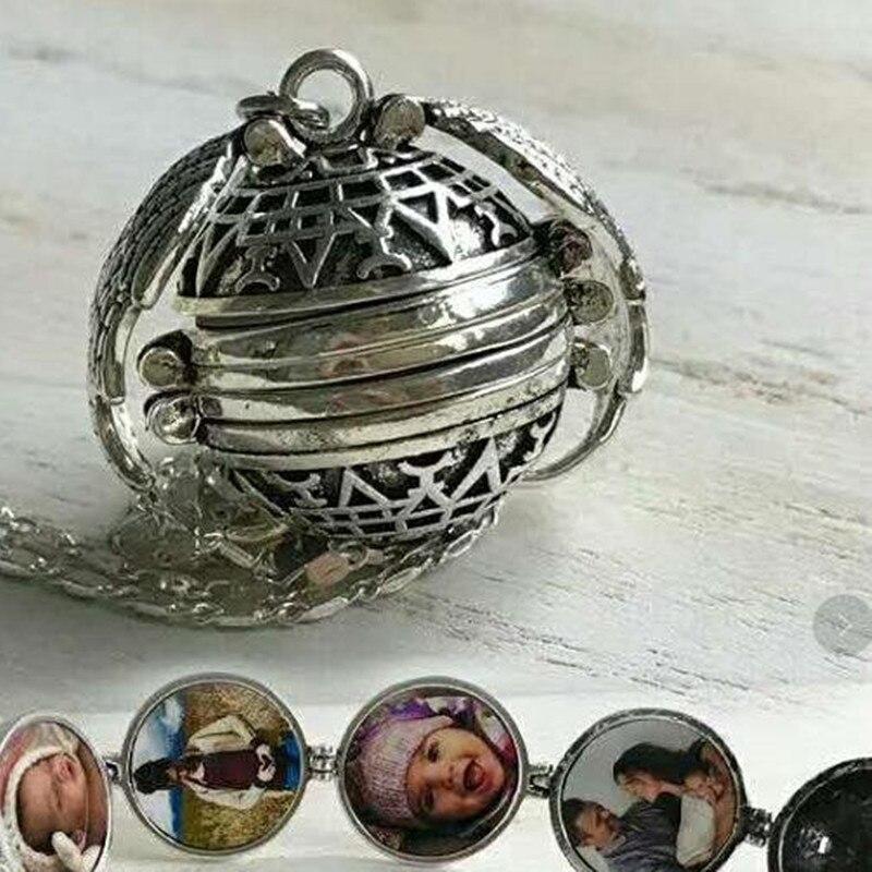 Doreen Box Vintage Magic Photo Pendant Memory Floating Locket Necklace For Women Men Copper Metal Fashion Album Necklaces