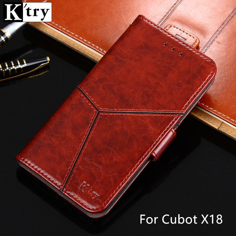 K'try Wallet Case For Cubot X18 Luxury Pu Leather With Silicone Case with Kickstand Flip Cover For Cubot X18 X 18