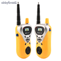 Abbyfrank 2pcs mini electronic walkie talkie toy spy gadgets intercom kids interphone electronic portable two way.jpg 250x250