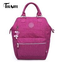 TEGAOTE Women School Backpack For Teenage Girl Mochila Feminina Travel Backpacks Nylon Waterproof Casual Laptop Bagpack