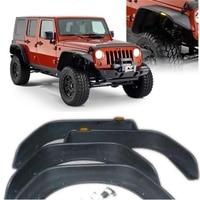 Set J094 Black ABS fender flare with leds for jeep wrangler jk 07 16 auto products Lantsun