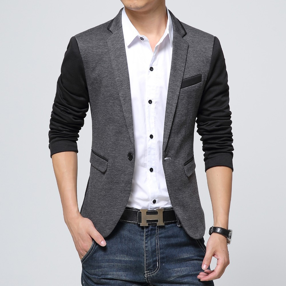 Aliexpress.com : Buy New Slim Fit Casual jacket Cotton Men Blazer ...