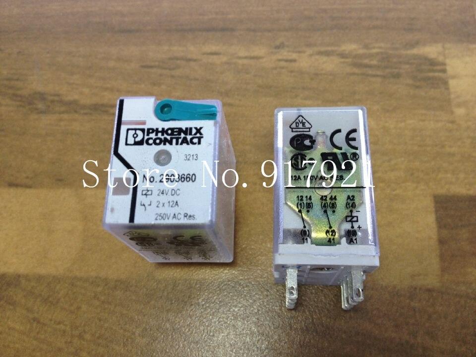 цена на [ZOB] The German PHOENIX CONTACT Feinikesi 2903660 DC24V relay 2X6A genuine original  --5pcs/lot