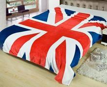 2015 Новый Юнион Джек Британский флаг ВЕЛИКОБРИТАНИИ ватки домой одеяло на кровати, 150 СМ Х 200 СМ бросок, флаг США одеяла #20