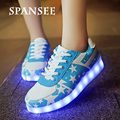 Size 25-45 Fashion LED Light Up Sneakers Glowing Sneakers Luminous Children Kids Infantil Shoes Basket Femme Trainers Female 4
