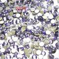 1440pc/bag SS10 2.7-2.8mm Tanzanite Purple Non HotFix FlatBack Rhinestones,Glass Glitter Glue-on Loose Nail Art Crystals Stones