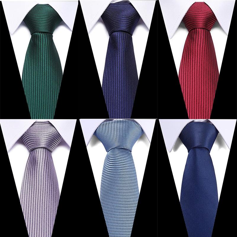 Brand Necktie Men Ties Designers Fashion Solid Striped Plaid Neck Tie Red Wedding Business Slim 7.5cm Skinny Tie For Men Cravate