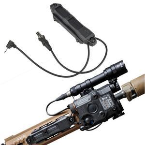 Tactical Airsoft PEQ control remoto de doble presión de doble botón de interruptor para PEQ15 16A DBAL A2 arma de luz se adapta a Keymod m-lok