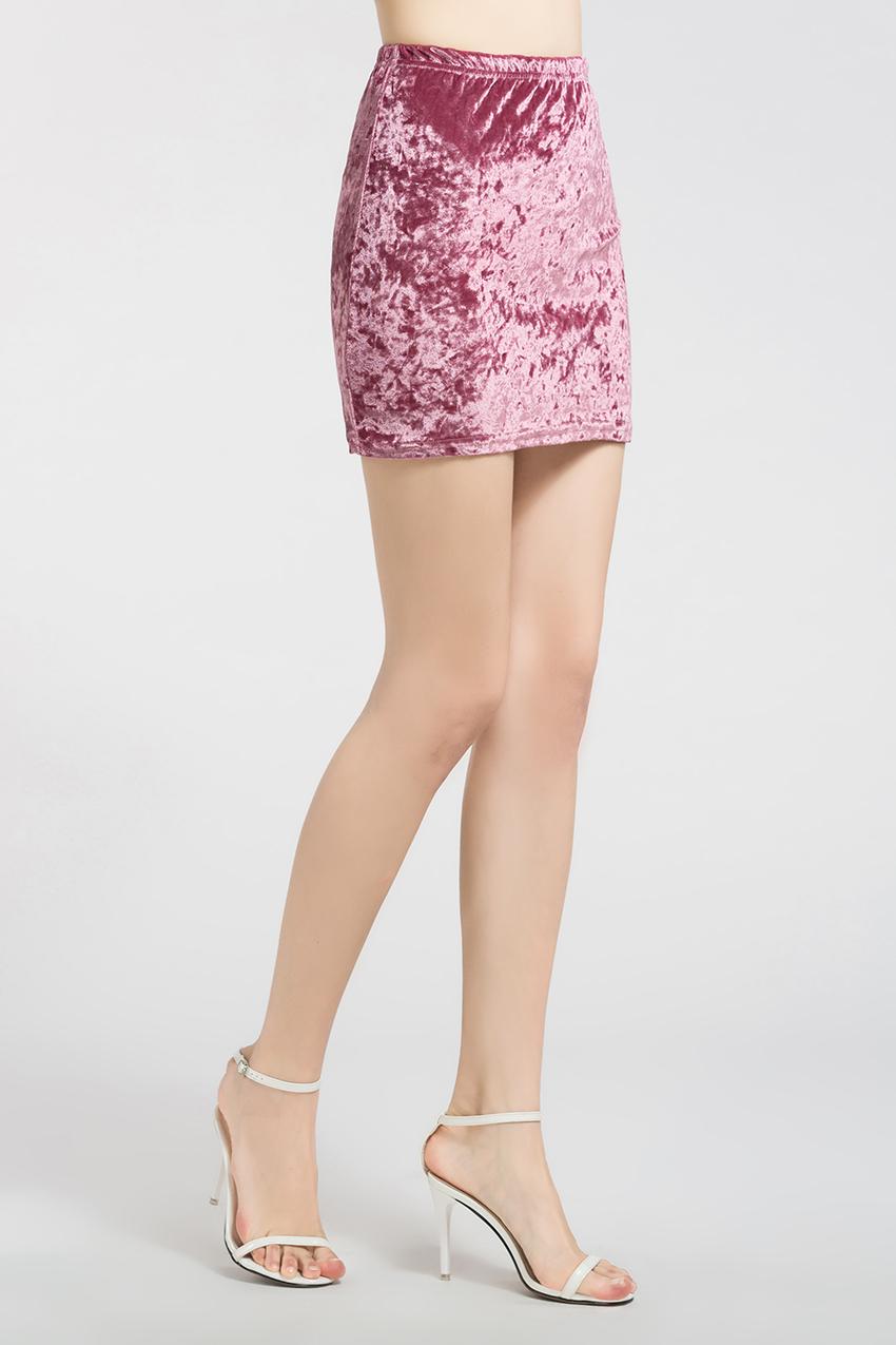 HTB1.3KhRXXXXXXNXVXXq6xXFXXX0 - FREE SHIPPING !!!! Velvet Skirt Women Autumn Black Pink Elastic High Waist Female JKP324