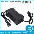 AC100V-240V 58.8 V 2.5A 2A Auto Carregador de Bateria Para 48 V Li-ion De Lítio Lipo Bateria Ferramenta Elétrica