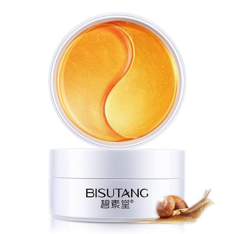 Gold Snail Collagen Eye Patch Moisturizing Remove Dark Circles Anti-Puffiness Anti-Wrinkles Gel Eye Pads Eye Patches