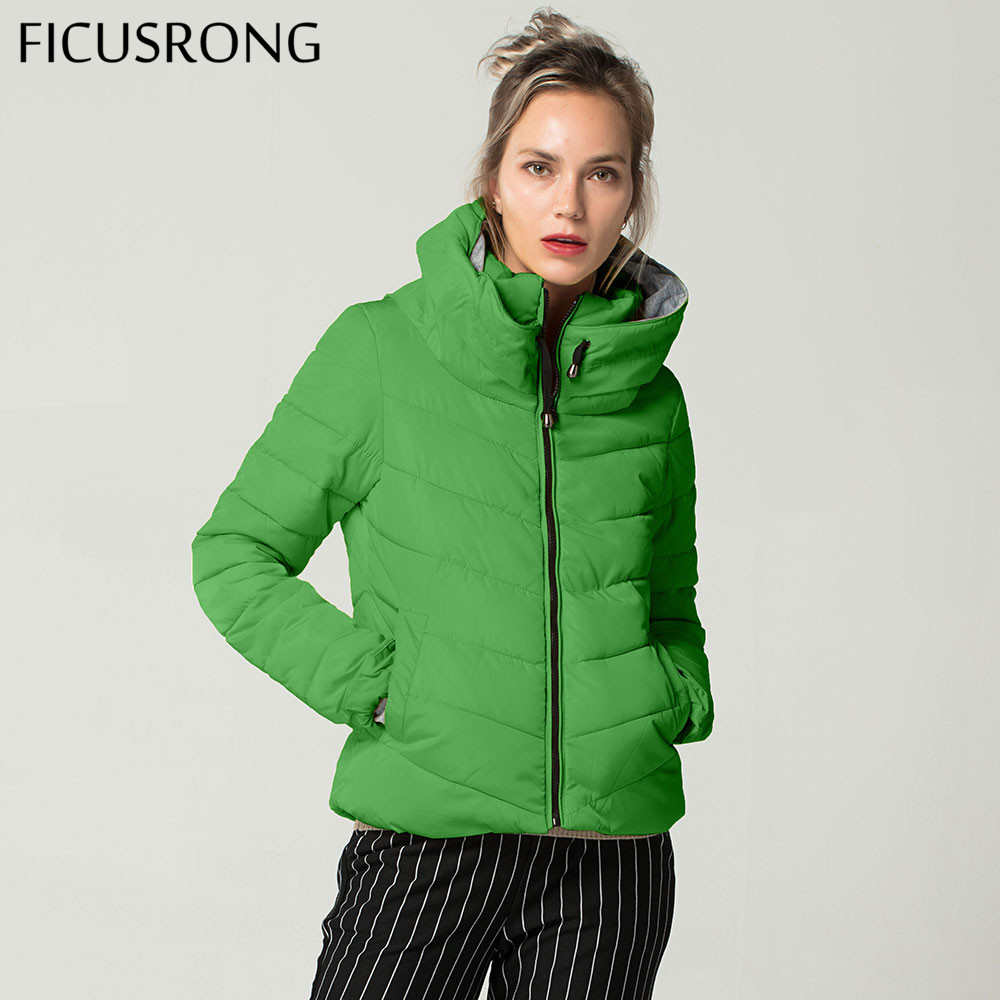 Short Autumn Winter Jacket Women Parkas Hooded Coats Female Wadded Jacket Women Parka Padded Jacket With Gloves chaqueta mujer-in Parkas from Women's Clothing    2