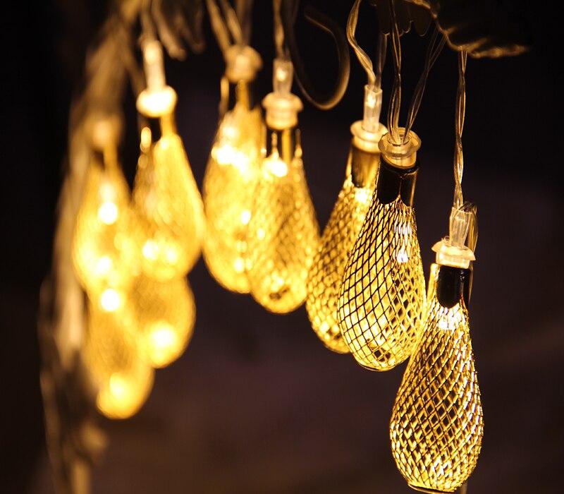 FGHGF 1,5/2,5/5 mt LED String Lichterkette Outdoor Weihnachtskugel ...