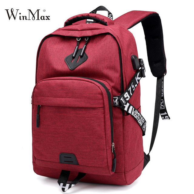 53a700814a62 USB School Bag for boys girls Backpack Casual Rucksack Daypack Oxford  Travel Fashion Laptop Backpacks Man Mochila Unisex Design