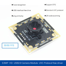 HBVCAM 30FPS Camera Module CMOS BF3005 0.3MP USB2.0 camera module 70 degree with UVC Protocol free driver graphic embroidery ringer tee