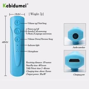 Image 2 - Kebidumei AUX 2018 3.5 millimetri I8 Cuffia Senza Fili di Bluetooth Ricevitore MP3 Lettore Audio Car Kit Handsfree del Trasduttore Auricolare Con Il Mic Per telefono