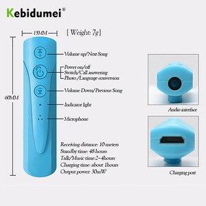 Image 2 - Kebidumei AUX 2018 3.5mm I8 casque Bluetooth sans fil récepteur MP3 lecteur Audio voiture Kit écouteur mains libres avec micro pour téléphone