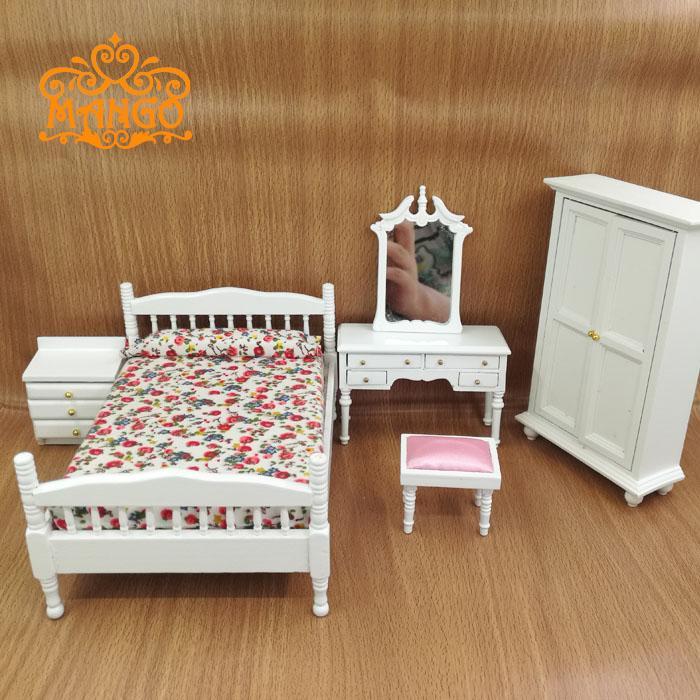 Majhno pohištvo za lutke 1/12 Scale, predalnik in stolček za - Igra igranja vlog - Fotografija 4