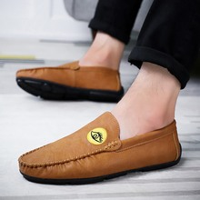 Men Shoes Casual Luxury Brand Mens Loafers Leather Soft Moccasins Comfy Breathable Slip on Driving Shoes  5 стоимость