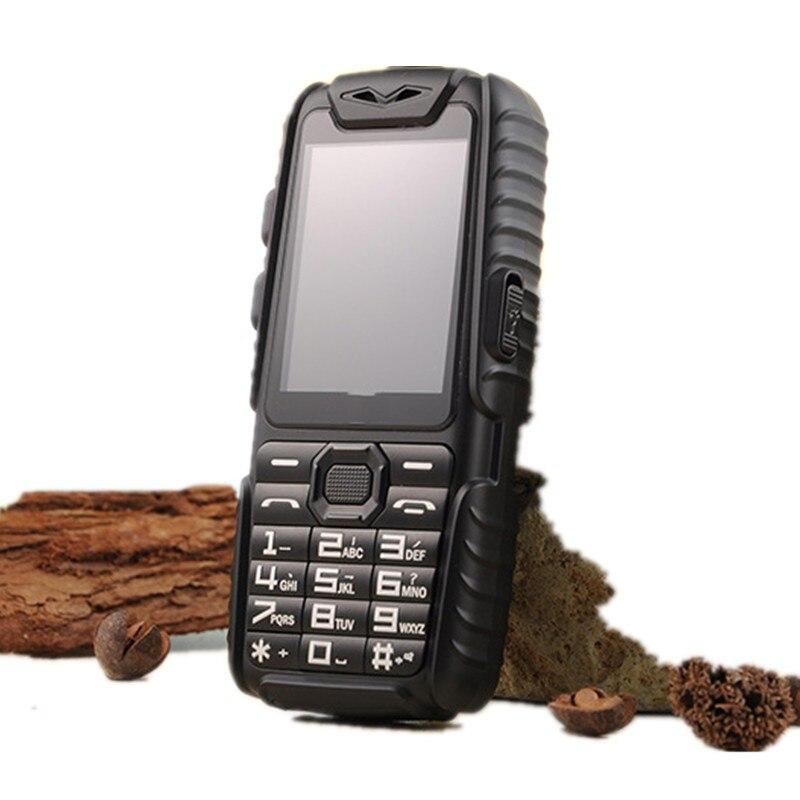 Цена за A6 Power Bank Телефон Противоударный Сильный Фонарик 2.4 дюйма Громкоговоритель Сильный Фонарик Dual SIM Старший Открытый Телефон
