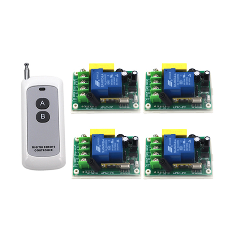 Super stable 1000m 220V 30A Single channel 315Mhz wireless remote control switch remote receiver for door window Pump motor 4080 220v 30a single channel remote control switch remote receiver for door window 1 transmitter control 8 switchs 4354