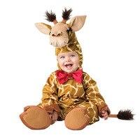 Milk Cow Shapes Baby Romper Newborn Boy Girls Rompers Jumpsuits Overalls 2017 Winter Animal Cosplay Halloween Christmas Costume