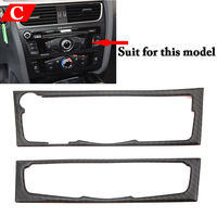 BBQ@FUKA Carbon fiber Car Interior AC Control CD Panel Cover Trim Sticker for Audi A4 B8 A5 Car styling Automobiles