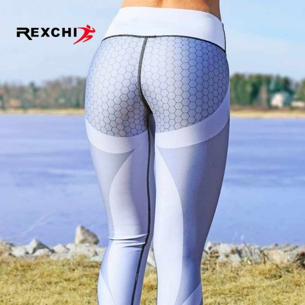 REXCHI Women Yoga Pants Honeycomb Foot Tights High Waist Sports Seamless Legging Gym Fitness Female Sportwear Super Stretchy