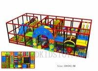 ЕС Стандартный 10x5 м игровая площадка для помещений для детей с линейной направляющей/батут/бассейн с шариками HZ 161214A