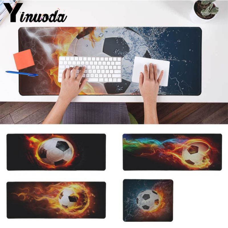 Yinuoda Computer Keyboard Mat burning football High Speed New Mousepad Size for 18x22cm 20x25cm 25x29cm 30x90cm 40x90cm
