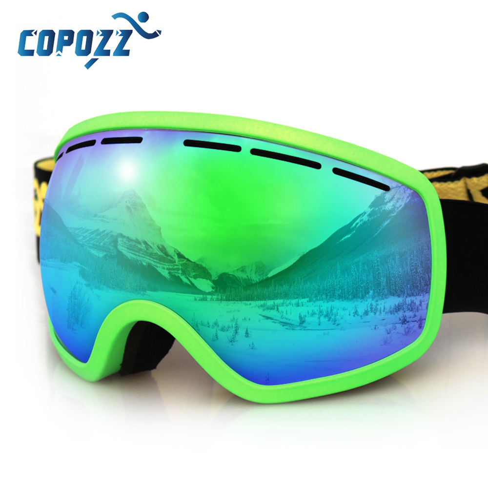COPOZZ Brand Ski Goggles Professional Anti-fog Adult Ski glasses Double Lens UV400 Snowboard Ski Mask with Soft Frame GOG-207 ultralight ski snowboard goggles glasses embedded myopia frame lens frame nearsightedness shortsightedness sunglasses adapter