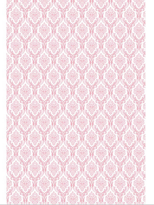 5x7ft lumi re rose marocaine damass motif mur for Motif sur mur
