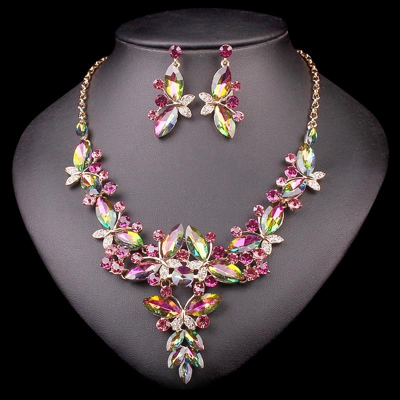 Aliexpress Com Buy New Fashion Necklace Earrings Bridal: Aliexpress.com : Buy Fashion Rhinestone Crystal Bridal