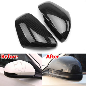 1Pair ABS Car Door Side Rearview Mirror Cover Carbon Fiber Color Fit For Honda Vezel HR-V 2016 2017 Car Styling Accessories