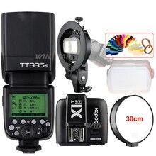 Godox tt685n 2.4 г Беспроводной HSS 1/8000 s TTL Камера Вспышка Speedlite + x1t-n триггера + Bowens s -Тип кронштейн для Nikon Зеркальные фотокамеры