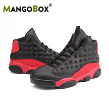 New Basketball Sneakers for Men Comfortable Man Basketball Shoes Spring Autumn Mens White Black Sneakers Lace Up Sport Boots Men цена 2017