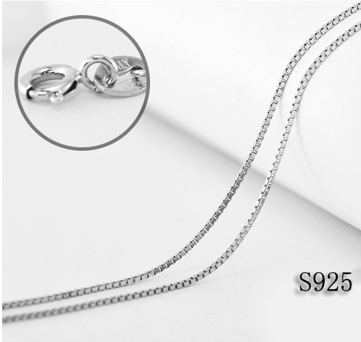Aliexpress.com : Buy 925 Silver Box Chain Necklace,Solid Sterling Silver  Italy Box Necklace from Reliable chain necklace suppliers on QZjewelryfy  Co.,Ltd ...