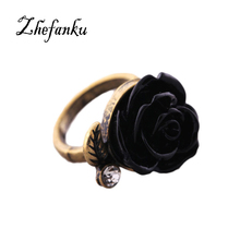 European And American Fashion Jewelry Retro Rose Female Models Ring Imitation Ring Drop Shipping RING-0302