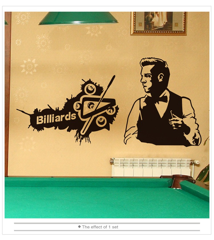 Custom Billiards Wall Sticker Game Boy Handmade Mural Stickers Wall ...
